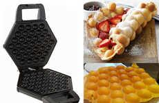 Asian Dessert Appliances - The Cucina Pro Bubble Waffle Maker Creates Delicious Fluffy Treats
