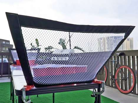 Ball-Catching Beer Pong Nets - The 'PongCaddie' Ensures Beer Pong Games are Kept Clean