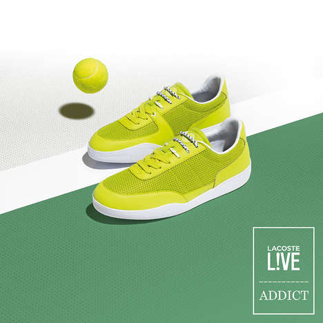Tennis Ball-Inspired Sneakers - The Addict Miami x Lacoste L!VE Range Celebrates the Summer Sport