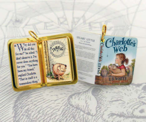 Literary Pendant Necklaces - Charmed Books Transforms Novels into Stylish Jewelry Charms