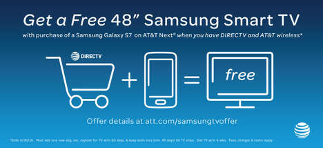 Free TV Smartphone Deals - AT&T is Offering Network Subscribers a Free TV with a Smartphone Purchase