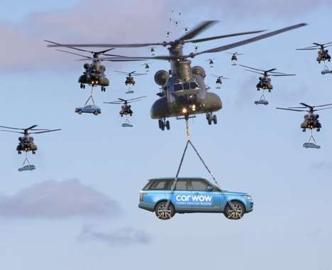 Drone Helicopter Car Deliveries