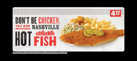 Cayenne-Coated Seafood - The New Nashville Hot Fish Dish Puts a Spicy Twist on Fast Food Seafood