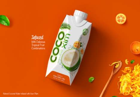 Exotic Coconut Water - CocoXim Makes Infused Coconut Water with Sour Plum and Lotus Seed