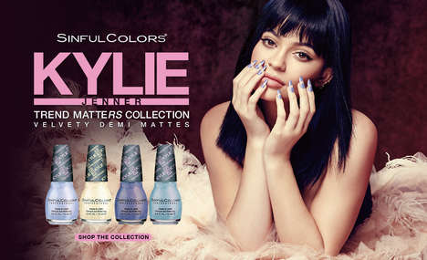 Matte Nail Polish Collections - The New 'Kylie Jenner x Sinful' Range Features Matte Polishes