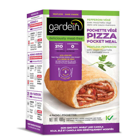 Meatless Pepperoni Pizza Pockets - Gardein's Kosher Pizza Pockets Are Free of Meat and GMOs