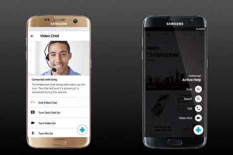 Remote Customer Support Apps - The Samsung Assist Feature Relays Control to Tech Support Agents