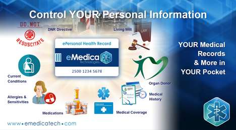 Comprehensive Health Record Cards - The eMedica Card Keeps Personal Health Records at Your Disposal