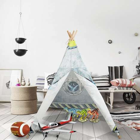 Imaginative Indoor Tents - The FiveJoy Kids Teepee is Easily Setup and Stored Away