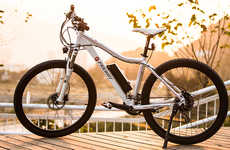 Smart Pedal-Assist Bikes - The Freway Mountain Bicycle Features 27 Speeds and Off-Road Capabilities
