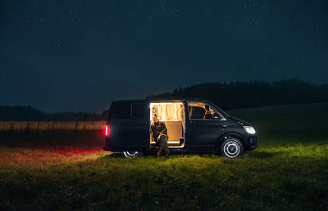 Minimalistic Mobile Homes - Nils Holger Moormann Transforms a Nondescript Van in a Luxe Abode