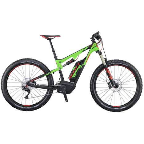 Enhanced Electric Mountain Bikes - The SCOTT E-Genius Plus Electric Mountain Bicycle is Rugged