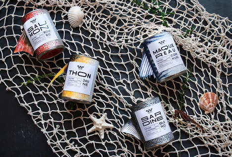 Canned Seafood Concepts - This Student Project Imagines Marine-Inspired Seafood Cans