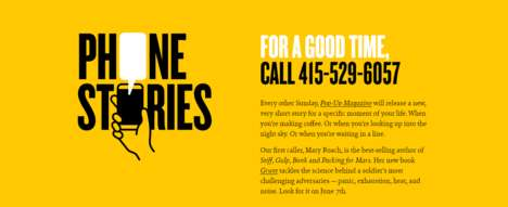 Short Story Hotlines - The Phone Stories Series is Only Accessible Via Phone Call