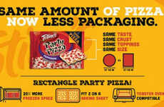 Freezer-Friendly Pizza Packaging - Totino's Pizzas Now Come in a Convenient Rectangular Shape