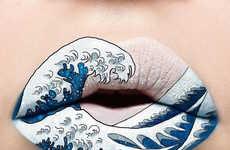 Artistic Lipstick Designs - Andrea Reed's Instagram Profile Spotlights Vivid Lip Color Applications