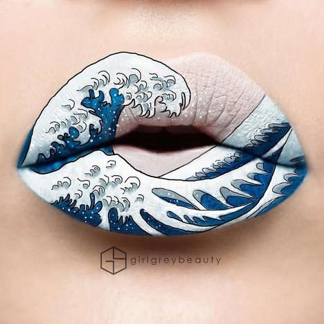Artistic Lipstick Designs - Andrea Reed's Instagram Profile Spotlights Vivid Lip Color Applications