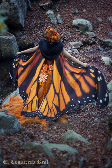 Butterfly Wing Scarves - El Costurero Real Lets People Embrace Their Inner Butterflies