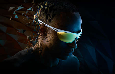 Dark Sunglasses Ads - The Nike Vision Campaign Gives the Sporty Look a Dramatic Edge