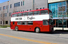 Double Decker Cafes - Junction Coffee is a Mobile Coffee Shop Set on a Two-Storey Bus