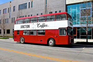 Junction Coffee is a Mobile Coffee Shop Set on a Two-Storey Bus