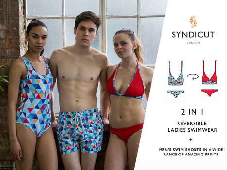 Two-In-One Swimwear Designs - Syndicut Makes Reversible Swimsuit Designs for Men and Women