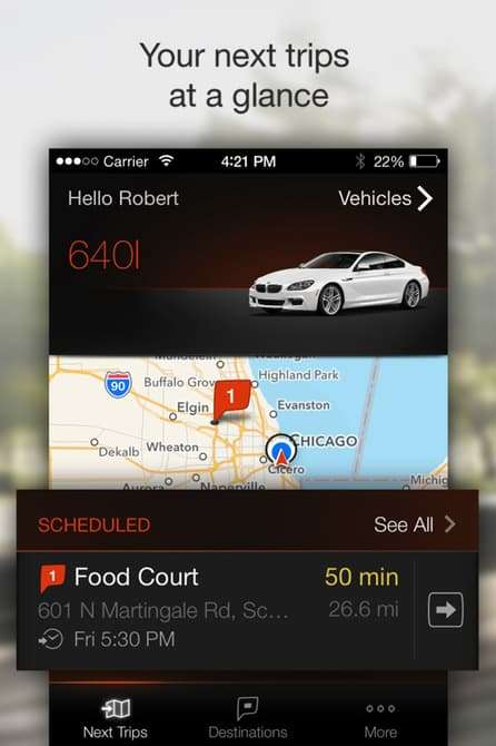 Informative Vehicle Apps - The Personal Mobility Companion App Gets You To Your Destination On Time