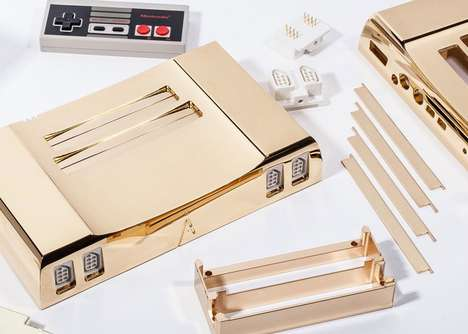 Golden Video Game Consoles - The Analogue Nt is an NES with a 24-Karat Gold Exterior