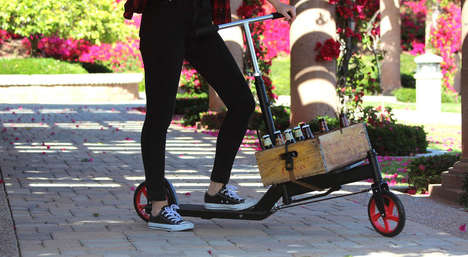 Contemporary Cargo Scooters - The Nimble Urban Scooter Features a Handy Cargo Rack on the Front