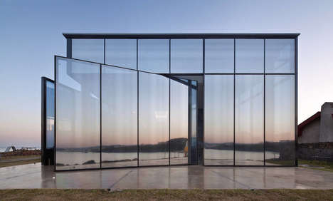 Mirrored Cafe Facades - Platform_monsant by Platform_a Reflects Its Natural Surroundings