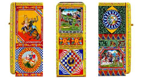 Hand-Painted Designer Fridges - The Frigoifero D'arte is Refrigerator Covered in Sicilian Artwork