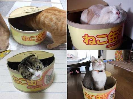 Tuna Can Cat Houses - The Cat Can Scratcher Pet House is a Funny Way to Entertain a Feline
