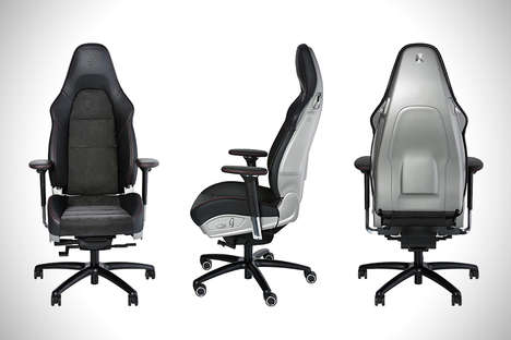 Workplace Vehicle Chairs - The Porsche Office Chair RS Converts a Luxe Car Seat into Furniture