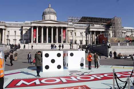 Board Game Installations - Giant Monopoly at Trafalgar Square Marks the London Games Festival