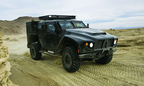 Tactical Combat Trucks - The Oshkosh LCTV Features an Armor Military Aesthetic for Off-Roading