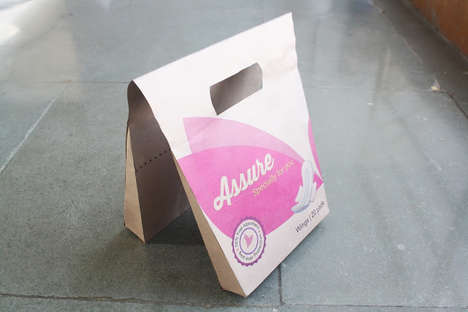 Discreet Sanitary Napkin Packaging - Two Students Help Make Feminine Hygiene Less Embarassing