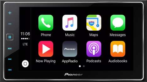 Aftermarket Auto App Accessories - The Pioneer Head Unit Lets You Add Apple CarPlay To Existing Cars