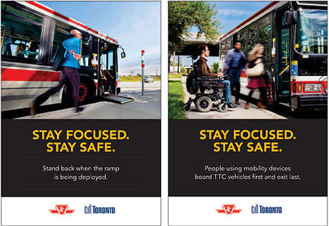 Pedestrian Safety Ads - These TTC Ads Encourage Pedestrians to Stay Focused and Stay Safe