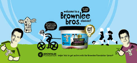 Olympian-Endorsed Yogurts - This Charitable Yogurt is Endorsed by Alistair and Jonny Brownlee