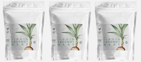 Frozen Coconut Meat Snacks - The Virgin Coconut Meat from Mightybee Comes in Freezer-Friendly Bags