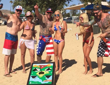 Updated Cornhole Games - The 'BEANBAGGLZ' Bean Bag Toss Features Different Game Styles