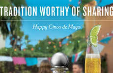 Co-Branded Beverage Ads - This Casa Noble Tequila Ad Features Also Promotes Corona Beer