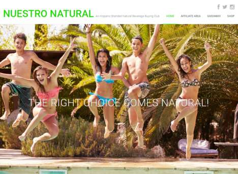 Hispanic Beverage Clubs - Nuestro Natural's Consumer Club Provides Inexpensive Natural Beverages