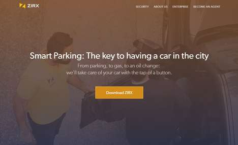 Mobile Valet Services - The ZIRX App Offers Smart Parking Services That are Cashless and Convenient