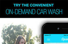 On-Demand Car Washes - The Squeegy App Allows Consumers to Order a Car Wash On-Demand