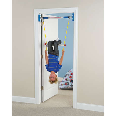 Youth Doorframe Gyms - This Home Gym for Kids Can Be Set Up in Any Interior Doorway