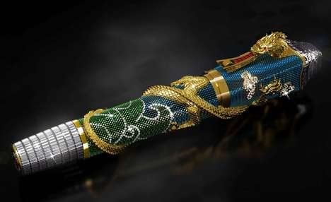 $1 Million Collectible Pens - Montegrappa's Jewel-Encrusted Writing Tool Embodies Opulence