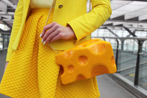 Chic Cheese Handbags - Etsy's rommydebommy Shop Specializes in Food-Themed Accessories