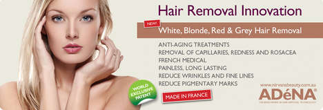 Inclusive Hair Removal Technology - Adena's Patented 'Blonde Hair Removal' Treats Light Hair Colors