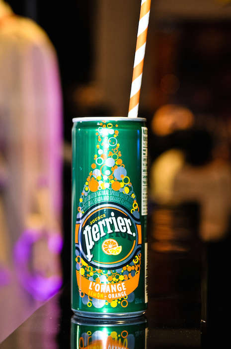 Sparkling Water Cans - Perrier Sparkling Water Now Comes in Two Fun New Flavors and Slim Cans
